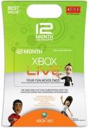 12 Monate Xbox Live Gold Mitgliedschaft (Weltweit)