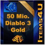 50 Mio. 50 Mil. Diablo 3 Gold (50000K D3 Gold)
