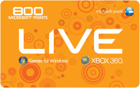 800 Microsoft Punkte Xbox Live EU