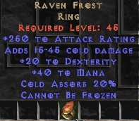 Raven Frost +20 dex & 200+ ar