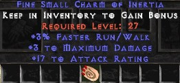 3 Max Damage w/ 17-19 AR & 3% FRW SC