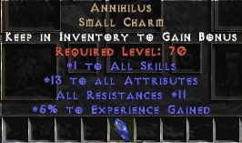 Annihilus 10-16 Stats/10-16 Resists/8-9 Experience