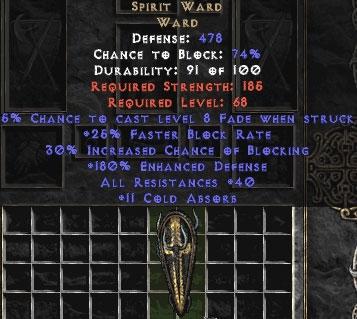 Spirit Ward - 30/40/11/180 - Perfect