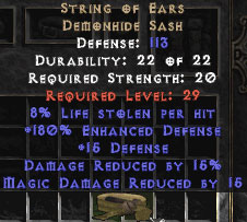 String of Ears 8% LL & 15% DR