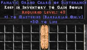 Barbarian Combat Masteries w/ 30 Life GC