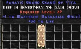 Barbarian Combat Masteries w/ 36-39 Life GC