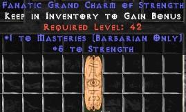 Barbarian Combat Masteries w/ 4-5 Str GC