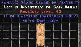 Barbarian Combat Masteries w/ 6 Dex GC