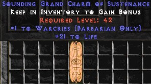 Barbarian Warcries w/ 21-29 Life GC