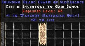 Barbarian Warcries w/ 31-35 Life GC