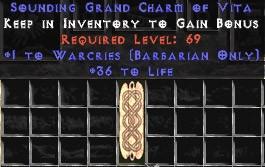 Barbarian Warcries w/ 36-39 Life GC