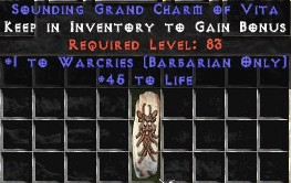 Barbarian Warcries w/ 45 Life GC