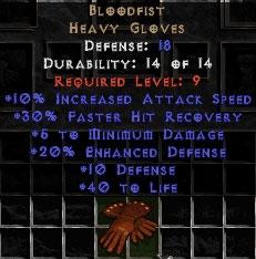 Bloodfist - 18 Def, 20% ED - Perfect