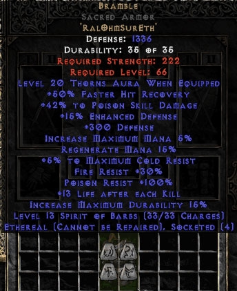 Bramble Sacred Armor - Ethereal - +40-49% PSD