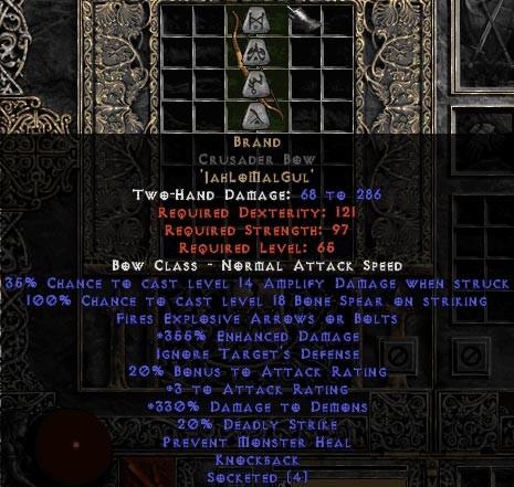 Brand Crusader Bow - 355% ED & 330% DD - Perfect