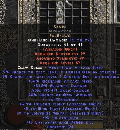 Chaos Suwayyah - 3 LS/3 DF/3 MB - 340% ED - Perfect