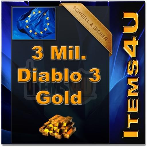 3 Mio. 3 Mil. Diablo 3 Gold (3000K D3 Gold)