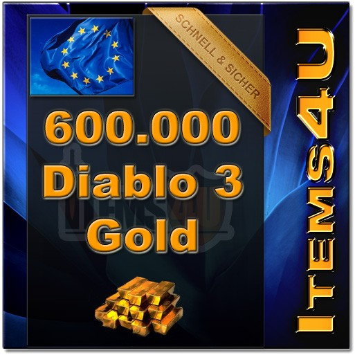 600000 Diablo 3 Gold (600K D3 Gold)