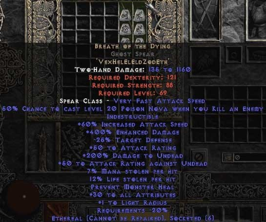 Breath of the Dying Ghost Spear - Ethereal - 400-414% ED