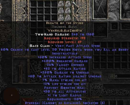 Breath of the Dying Thunder Maul - Ethereal - 400-414% ED