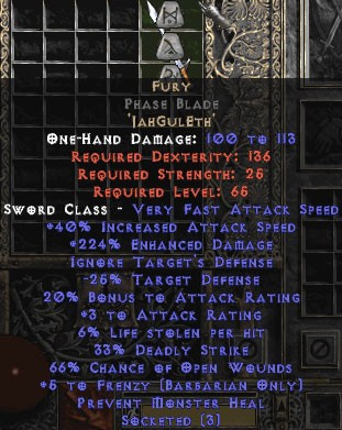 Fury Phase Blade