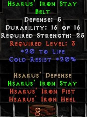 Hsarus' Iron Stay