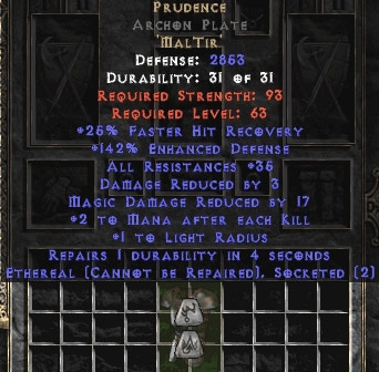 Prudence Archon Plate - Eth Bugged - 140-169% & 35 Res