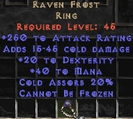 Ravenfrost - 20 Dex & 250 AR - Perfect
