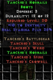 Tancred's Hobnails - 3 Def - Perfect