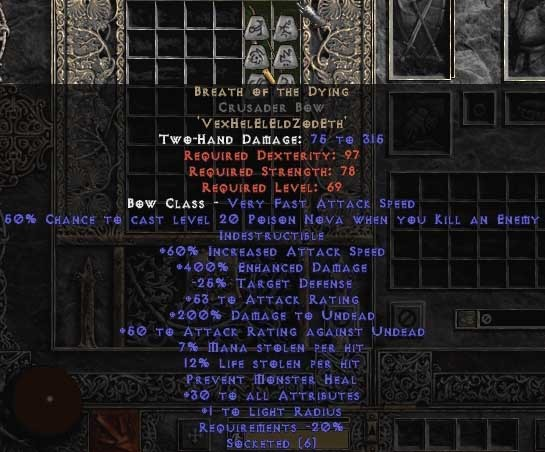 Breath of the Dying Crusader Bow - 400-414% ED