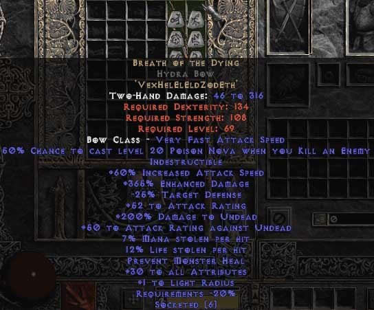 Breath of the Dying Hydra Bow - 365-384% ED