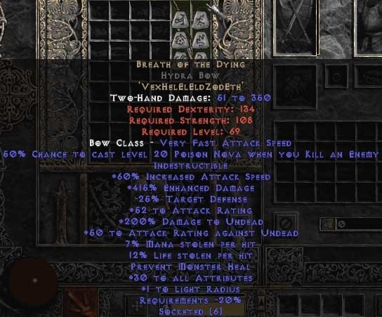 Breath of the Dying Hydra Bow - 415% ED & 15% LL - Perfect