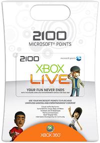 2100 Microsoft Punkte Xbox Live EU