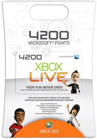 4200 Microsoft Punkte Xbox Live EU