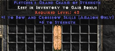 Amazon Bow & Crossbow Skills w/ 6 Str GC