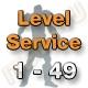 Level Service 1 bis 49 (Ungeskillter Charakter)