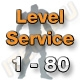 Level Service 1 bis 80 (Ungeskillter Charakter)