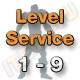 Level Service 1 bis 9 (Ungeskillter Charakter)