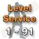 Level Service 1 bis 91 (Ungeskillter Charakter)