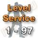 Level Service 1 bis 97 (Ungeskillter Charakter)