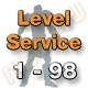 Level Service 1 bis 98 (Ungeskillter Charakter)