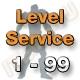 Level Service 1 bis 99 (Ungeskillter Charakter)