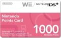1000 Nintendo Wii & DSi Punkte Card