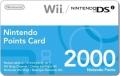 2000 Nintendo Wii & DSi Punkte Card