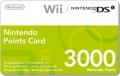 3000 Nintendo Wii & DSi Punkte Card