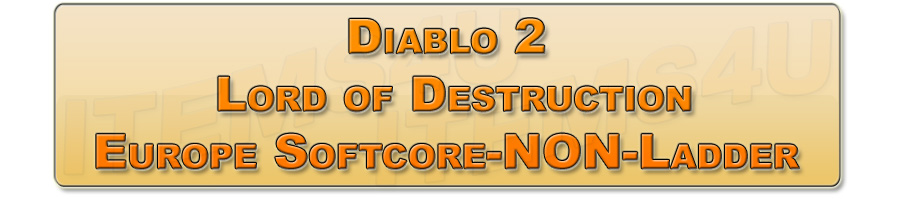 Diablo 2 Lord of Descrution (LoD) Europe Softcore NON-Ladder